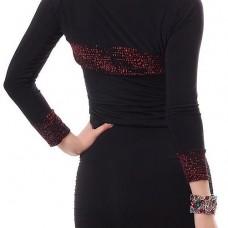 60b2c74ea3b Dames bolero zwart met glitters rood - Jassen en blazers - Mini ...