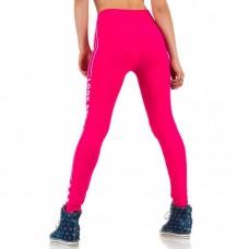 Sportlegging Roze.Legging Tekst Look Sexy Pink Roze Geel Legging Mini Jurken Nl