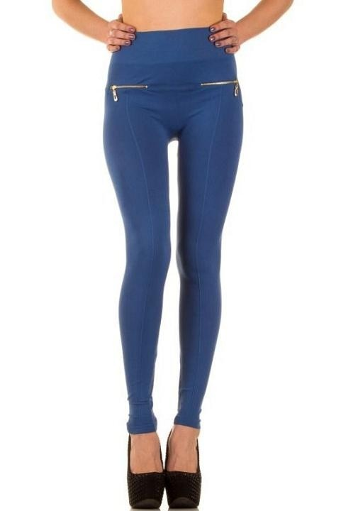 1dba6497545c4d Dames legging blauw XS-XL - Legging - Mini-jurken.nl