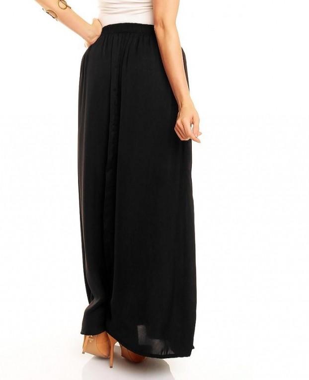 Ongebruikt Lange dames rok met split zwart - Rokken - Mini-jurken.nl WD-88