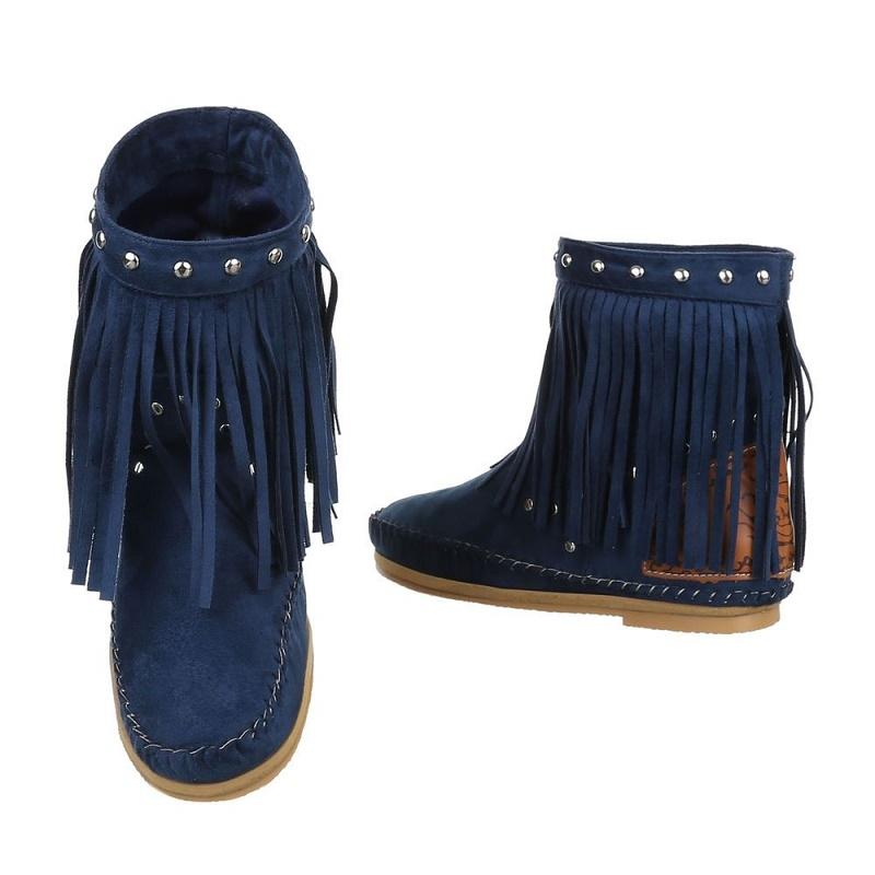 Ibiza laarzen franjes gebroken wit Ibiza boots Mini
