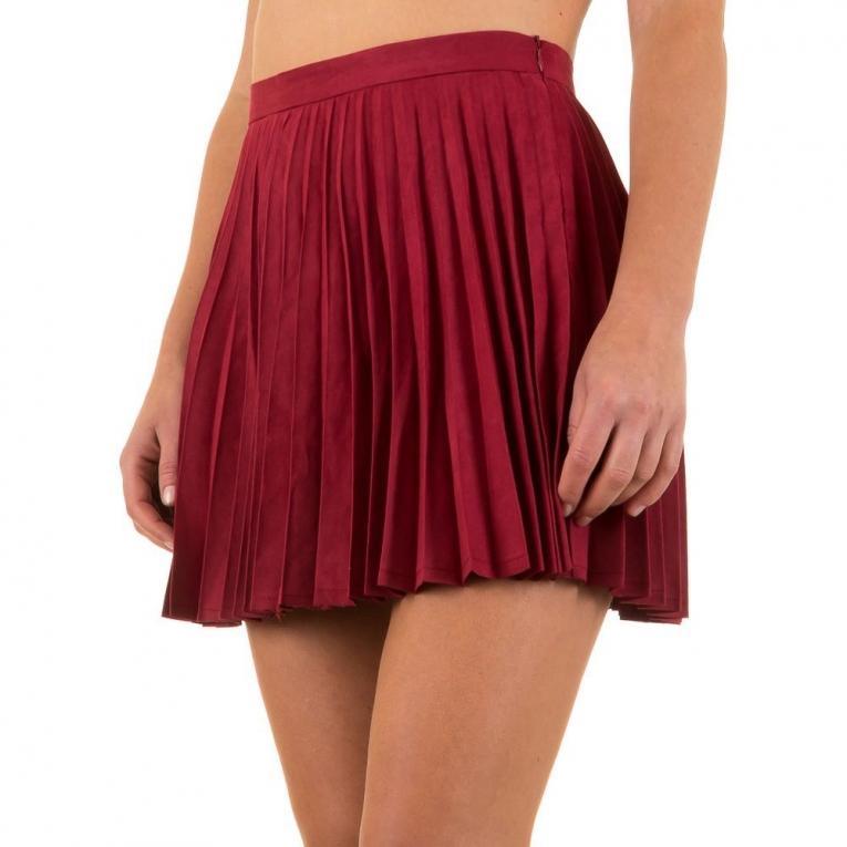 plisse mini rok wijn rood of zalm rokken mini. Black Bedroom Furniture Sets. Home Design Ideas